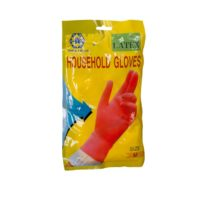 "4"" Cuff Ladies Rubber Gloves House/Holb Medium -Pm"